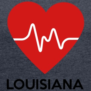 Heart Louisiana - Women's Roll Cuff T-Shirt