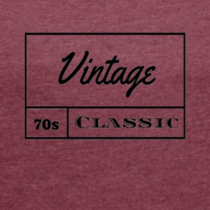 Vintage 1970s Classic - Women's Roll Cuff T-Shirt