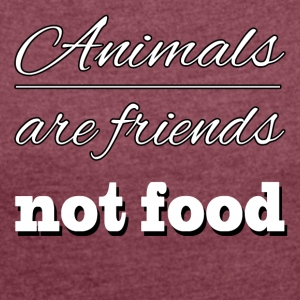 Animal are friends - Women's Roll Cuff T-Shirt
