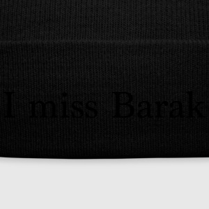 I miss Barak - Knit Cap with Cuff Print
