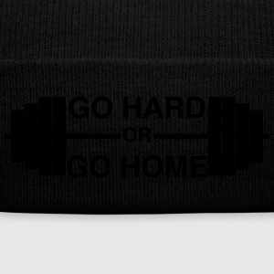 Go Hard or Go Home - Knit Cap with Cuff Print