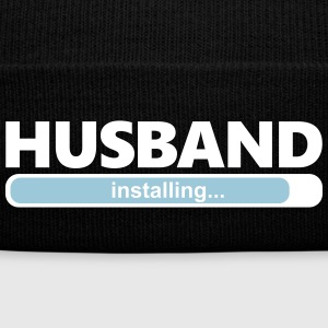 Installing Husband (1064) - Knit Cap with Cuff Print