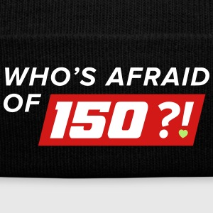 Who Afraid of 150 - Knit Cap with Cuff Print