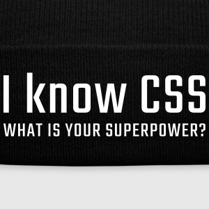 I know CSS - Knit Cap with Cuff Print