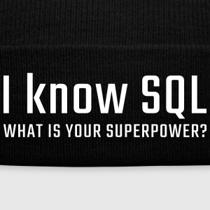 I know SQL - Knit Cap with Cuff Print