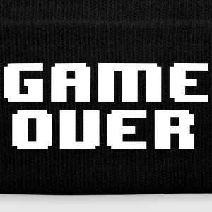 GAME OVER - Knit Cap with Cuff Print