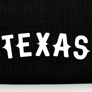 Texas Western styled letters - Knit Cap with Cuff Print