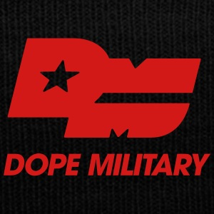 DOPE MILITARY LOGO BLK CLEAN - Knit Cap with Cuff Print