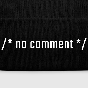 /* no comment */ - lowercase - Knit Cap with Cuff Print