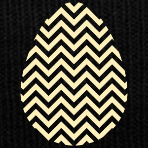 Gold Easter Egg Chevron - Knit Cap with Cuff Print