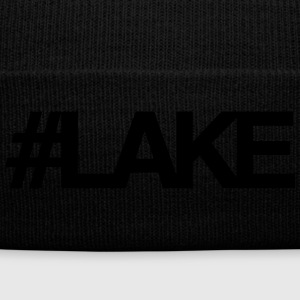 #Lake - Knit Cap with Cuff Print