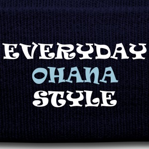 Everyday Ohana Style - Knit Cap with Cuff Print