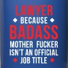 Badass Lawyer Professions Attorney T Shirt - Full Color Mug