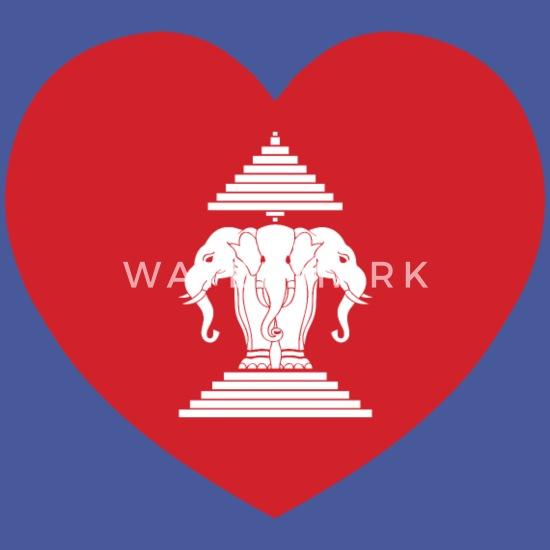 d10ba0acb303c Laotian Erawan 3 Headed Elephant Heart Flag Full Color Mug   Spreadshirt