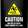 Caution one out of every three snakes is a jerk - Full Color Mug