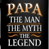 Fathers Day Shirt Papa The Man The Myth The Legend - Full Color Mug