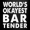 World's Okayest Bartender Bar Coffee Restaurant - Full Color Mug