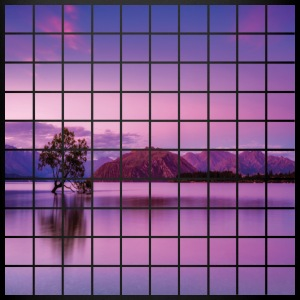 Purple Grid Lake - Full Color Mug