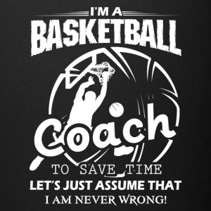Coach Basketball T Shirt - Full Color Mug