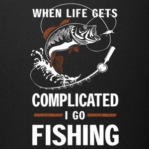 When life gets complicated I go fishing - Full Color Mug
