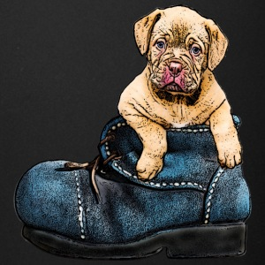 cute dog canine puppy pet in a shoe - Full Color Mug