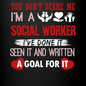 Can't Scare A Social Worker Shirt - Full Color Mug
