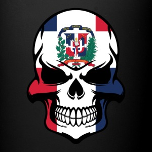 Dominican Flag Skull Dominican Republic Skull - Full Color Mug