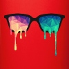 Abstract Psychedelic Nerd Glasses with Color Drops - Full Color Mug