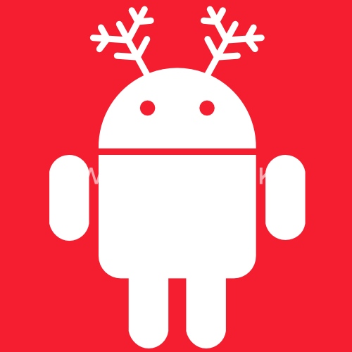 merry christmas android santa rudolf google by monigote spreadshirt