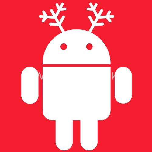 merry christmas android santa rudolf google by monigote spreadshirt