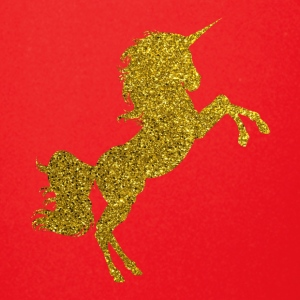 Golden Unicorn - Gold Glitter Horse Fable Tale - Full Color Mug
