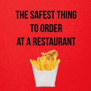 Nuggets with fries the safest thing to order - Full Color Mug