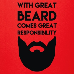 with great beard comes great responsibility - Full Color Mug