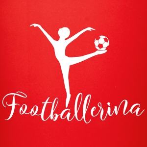 football and ballet ballerina playing ball - Full Color Mug