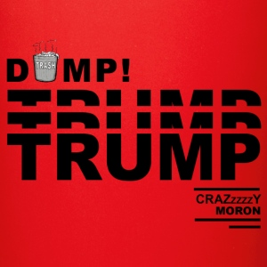 DumpTrump Crazy Moron with White Trash Can - Full Color Mug