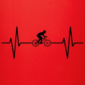My heart beats for cycling! gift - Full Color Mug