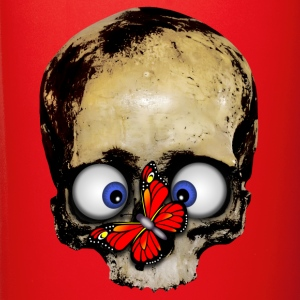 skull with red butterfly - Full Color Mug
