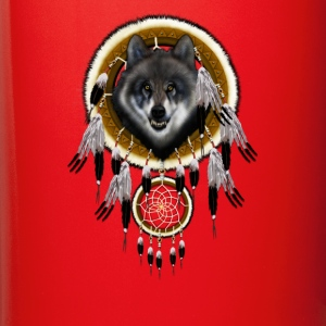 Grey Wolf Dream Catcher TSHIRT - Full Color Mug