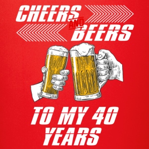 cheers and beers 40 years - Full Color Mug