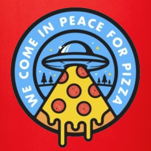 Pizza Peace Alien - Full Color Mug