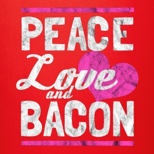 Peace, love and bacon - Gift for bacon lover - Full Color Mug