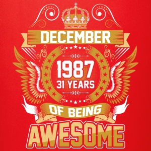 December 1987 31 Years Of Being Awesome - Full Color Mug