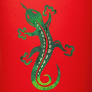 Green lizard, tribal and tattoo style. - Full Color Mug