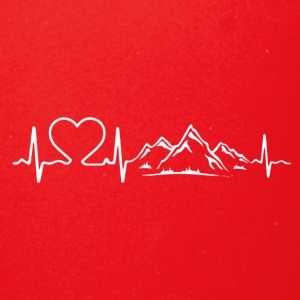 Love Mountains Heartbeat Shirt - Full Color Mug