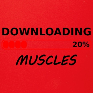 downloading muscles tshirt - Full Color Mug