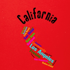 Clifornia State Cities - Full Color Mug