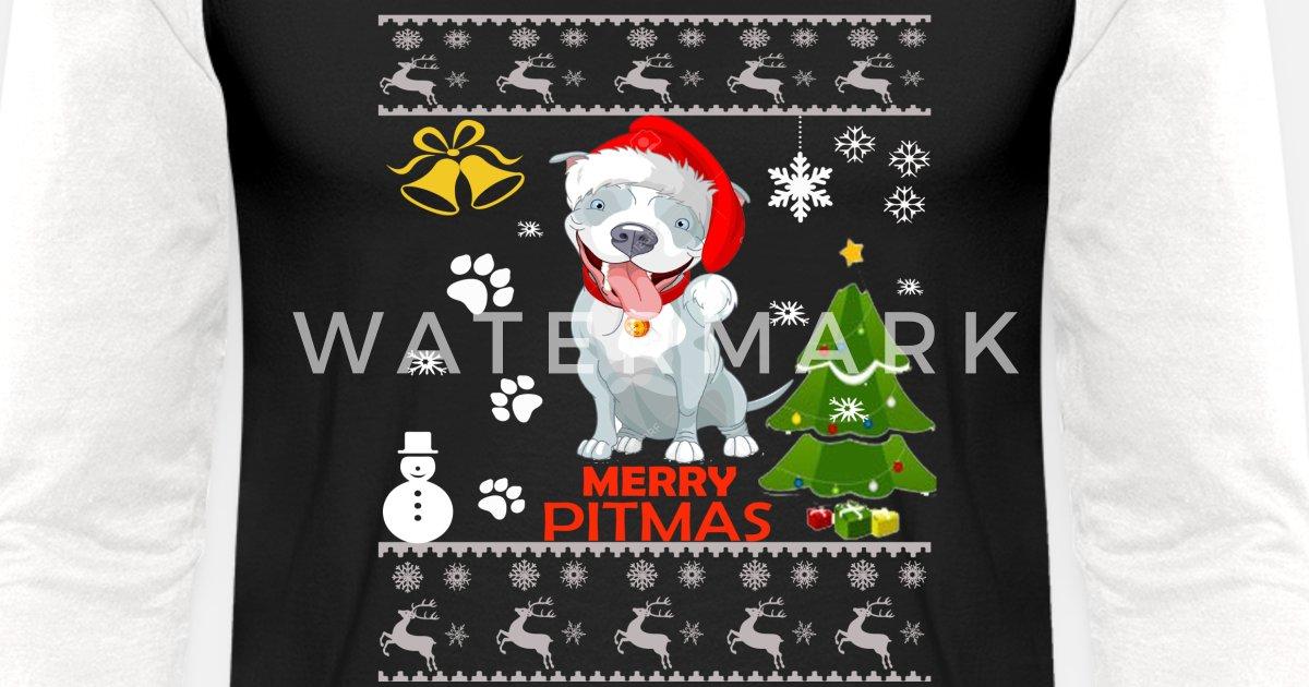 Pitbull Ugly Christmas Sweater Funny Pitbull Dog Unisex
