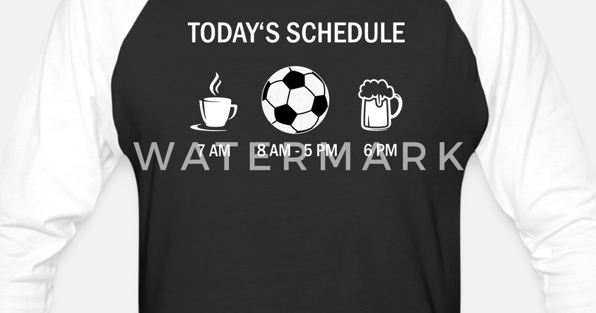 Today's Schedule Coffee And Soccer And Beer Unisex Baseball T-Shirt |  Spreadshirt
