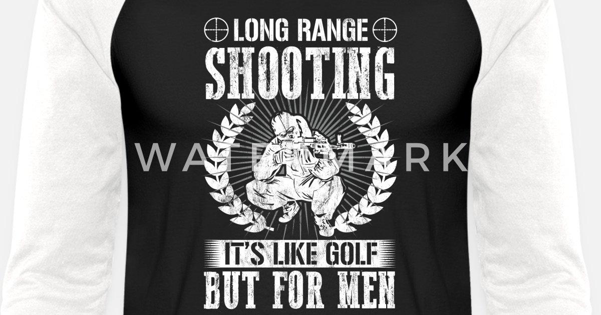 11a1bafe4 Funny Sniper Gifts Shirt Long Range Shooting Unisex Baseball T-Shirt |  Spreadshirt
