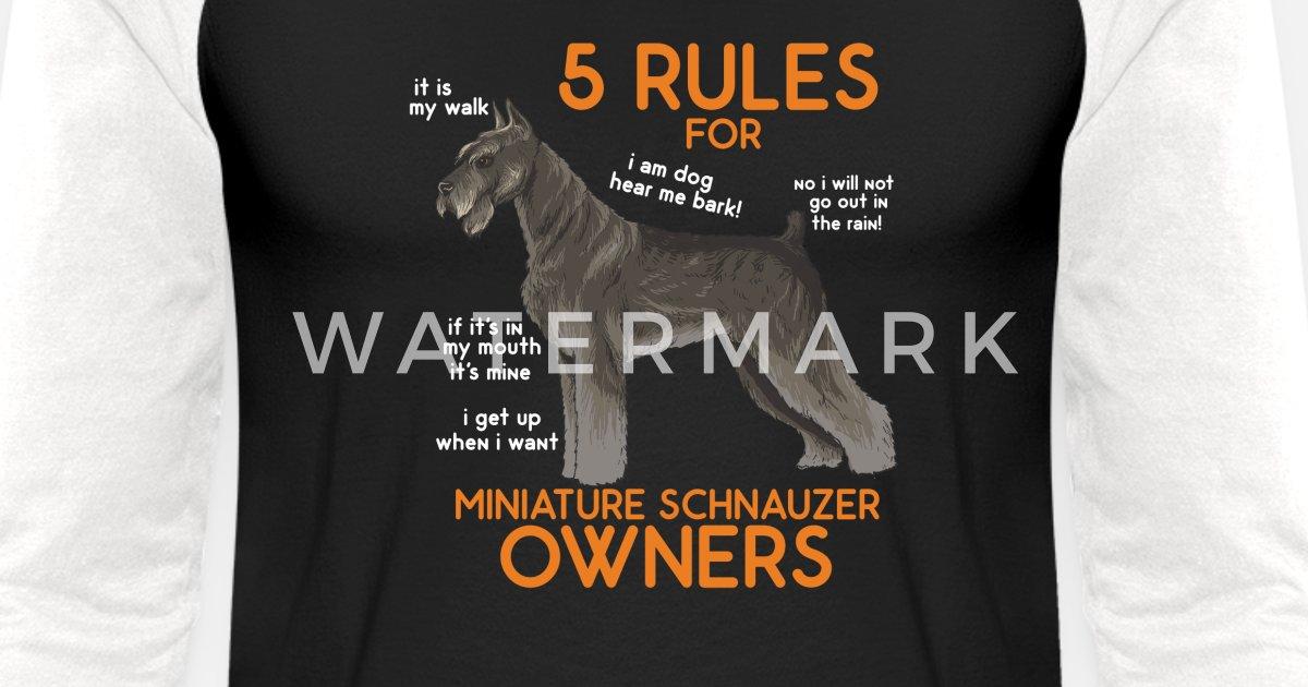 c9334617 Cool SCHNAUZER Tee: Miniature Schnauzer Unisex Baseball T-Shirt |  Spreadshirt